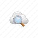 cloud, cloud computing, computing, data, find, magnifier, search icon