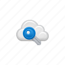 cloud, cloud computing, computing, key, password, protected, security icon