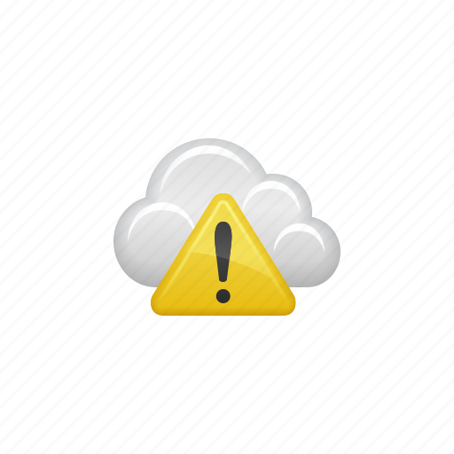 Cloud, cloud computing, computing, danger, data, exclamation point, warning icon - Download on Iconfinder