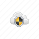 cloud, cloud computing, computing, data, password, security, shield icon