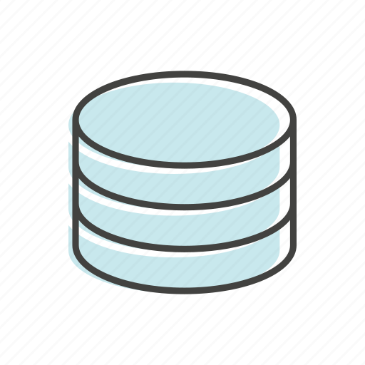 cloud, data, line, server, technology, thin icon