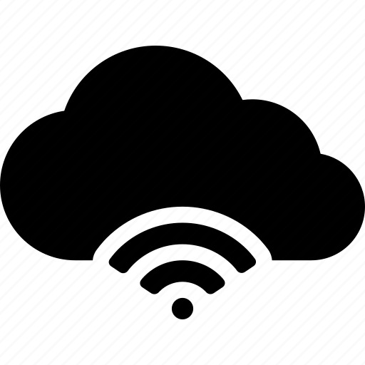 cloud, computing, connection, data, signal, storage, wifi icon