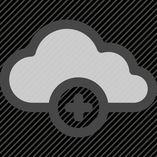 add, cloud, computing, data, internet, plus, storage icon