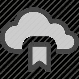 bookmark, cloud, computing, data, favorite, internet, storage icon