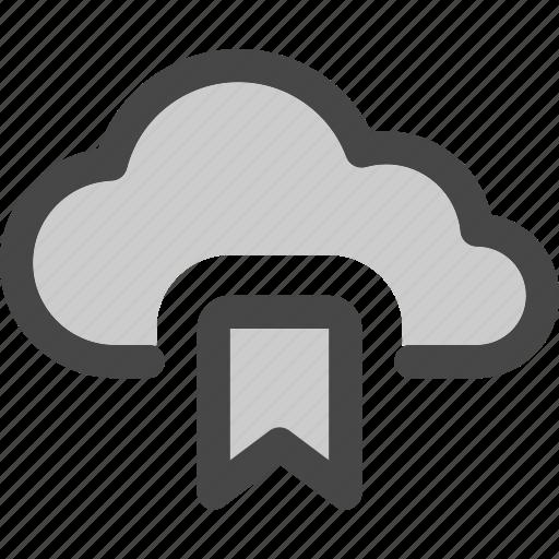 Computing, bookmark, storage, favorite, internet, data, cloud icon