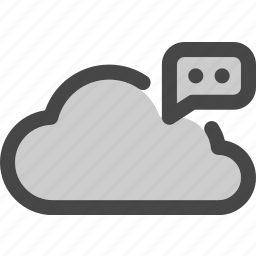 chat, cloud, comment, computing, data, feedback, storage icon