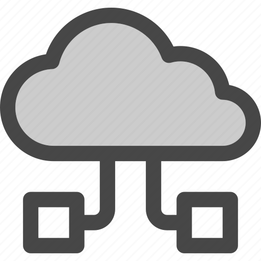 cloud, computing, connections, data, internet, storage icon