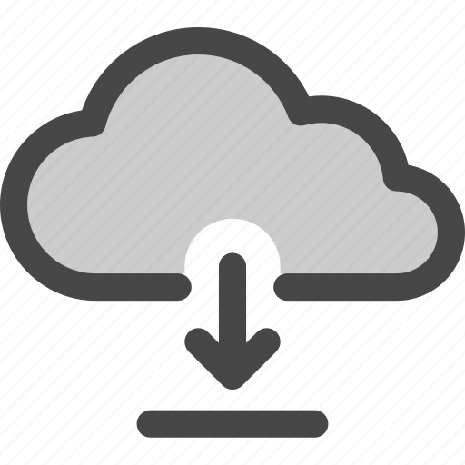 cloud, computing, data, download, file, storage icon