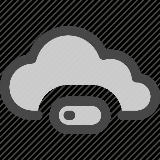 cloud, computing, download, loading, progress, storage icon