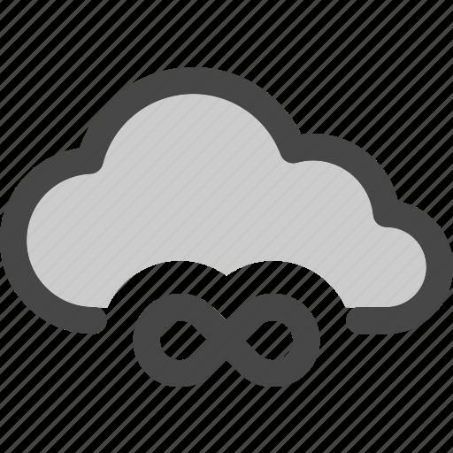 cloud, computing, eternity, infinity, internet, storage, unlimited icon
