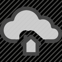cloud, computing, home, homepage, internet, storage icon