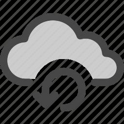cloud, computing, connecting, data, internet, loading, storage icon