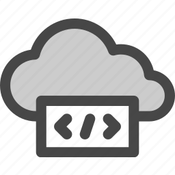 cloud, code, computing, internet, markup, programming, storage icon