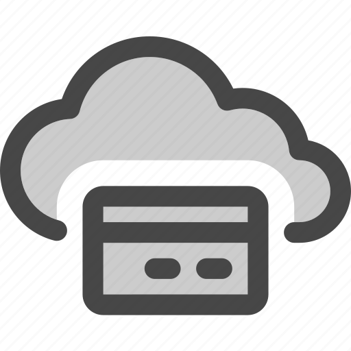 cloud, computing, creditcard, money, payment, storage icon
