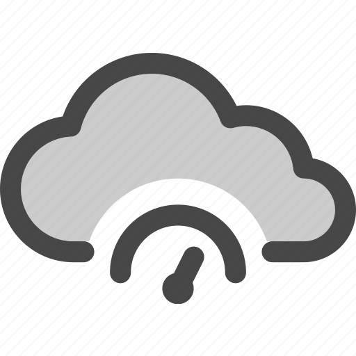 cloud, computing, indicator, internet, performance, speed, storage icon