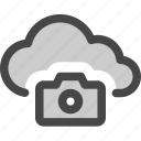 camera, cloud, computing, image, internet, photo, storage icon