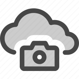 camera, cloud, computing, image, internet, photo, storage icon