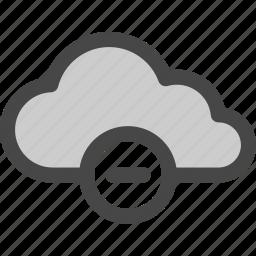 cloud, computing, delete, internet, minus, reduce, storage icon