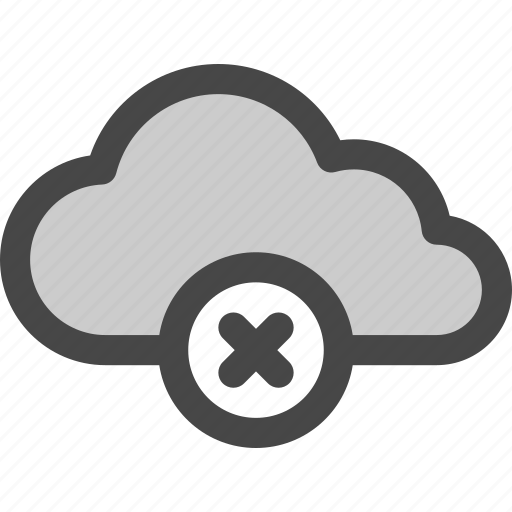 cloud, computing, data, internet, rejected, storage icon