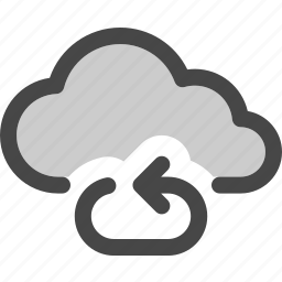 cloud, computing, connection, data, internet, repeat, storage icon