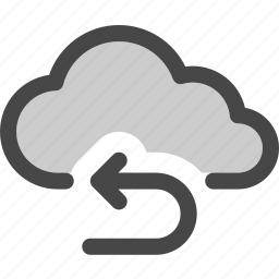 cloud, computing, connection, forward, repeat, storage icon