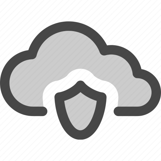 cloud, computing, data, internet, protected, secured, storage icon