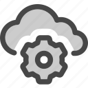 adjustments, cloud, computing, gear, settings, storage icon