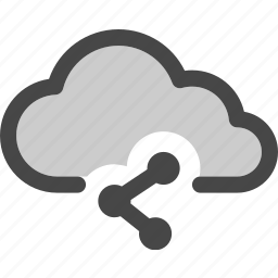 cloud, computing, data, media, share, social, storage icon