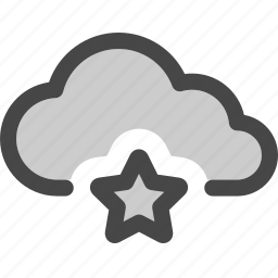 bookmark, cloud, computing, data, favorite, star, storage icon