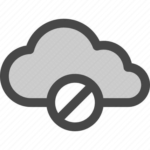 cloud, computing, data, internet, storage, unavailable icon
