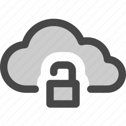 cloud, computing, data, internet, storage, unlocked, unprotected icon