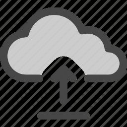 cloud, computing, file, internet, storage, upload icon