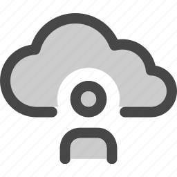 avatar, cloud, computing, data, internet, storage, user icon