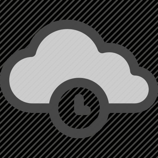 cloud, computing, pending, storage, time, waiting icon