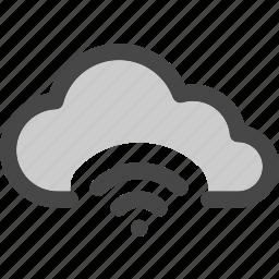 cloud, computing, connection, internet, signal, storage, wifi icon