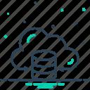 center, cloud, data, hosting, receive, server, storage icon