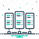 backup, database, datacenter, networking, rackmount server, server, storage icon