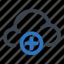 data, storage, cloud, add