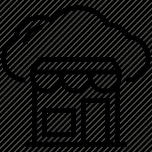 cloud shop, cloud store, e shop, marketplace, shop icon