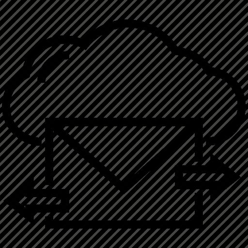 cloud communication, cloud computing, cloud mail, cloud storage, mail encryption icon