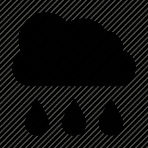 cloud, meteorology, raining, rainstorm, weather icon