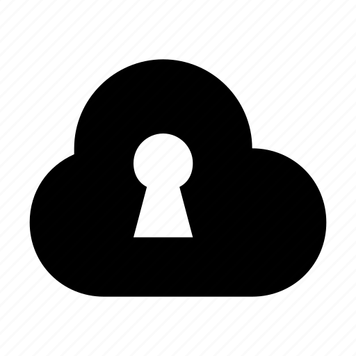 cloud computing, cloud locked, internet security, keyhole, secure cloud icon