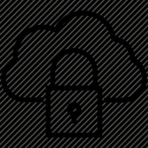cloud privacy, icloud, lock, padlock, password, security icon