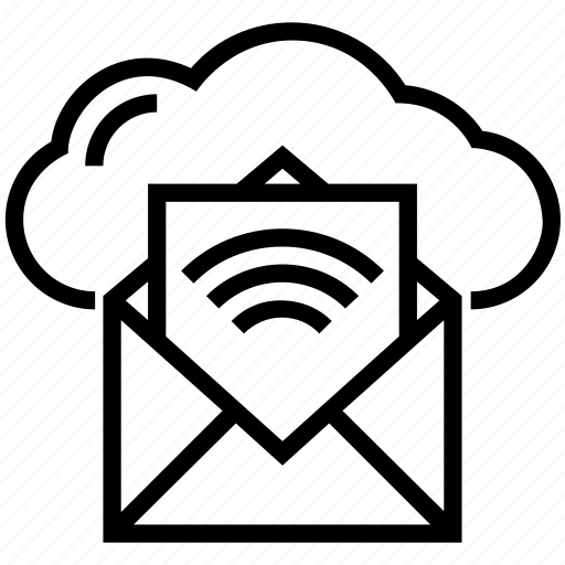 cloud email, envelope, inbox, letter, mail icon