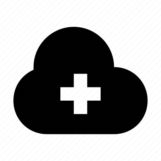 add storage, add to cloud, cloud computing, cloud storage, data storage icon