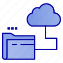 cloud, file, folder, storage icon
