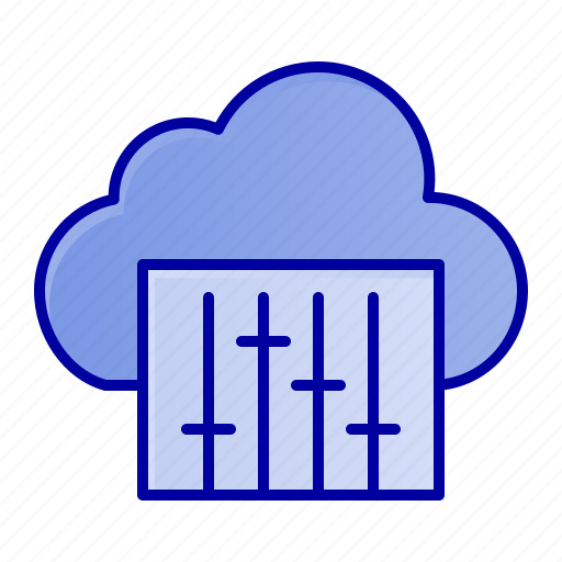 audio, cloud, connection, music icon