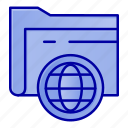 fie, folder, globe, storage icon