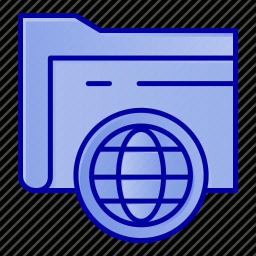 Fie, folder, globe, storage icon - Download on Iconfinder