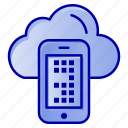 cell, cloud, computing, mobile icon